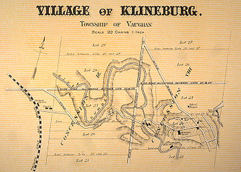 Map of Kleinburg Ontario 1878 (Wikipedia)